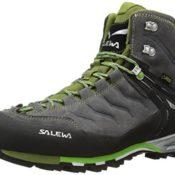 Salewa Herren Trekking- und Wanderstiefel MS MTN Trainer Mid GTX, Grau (Pewter/Emerald 4052), 43 EU (9 Herren UK)